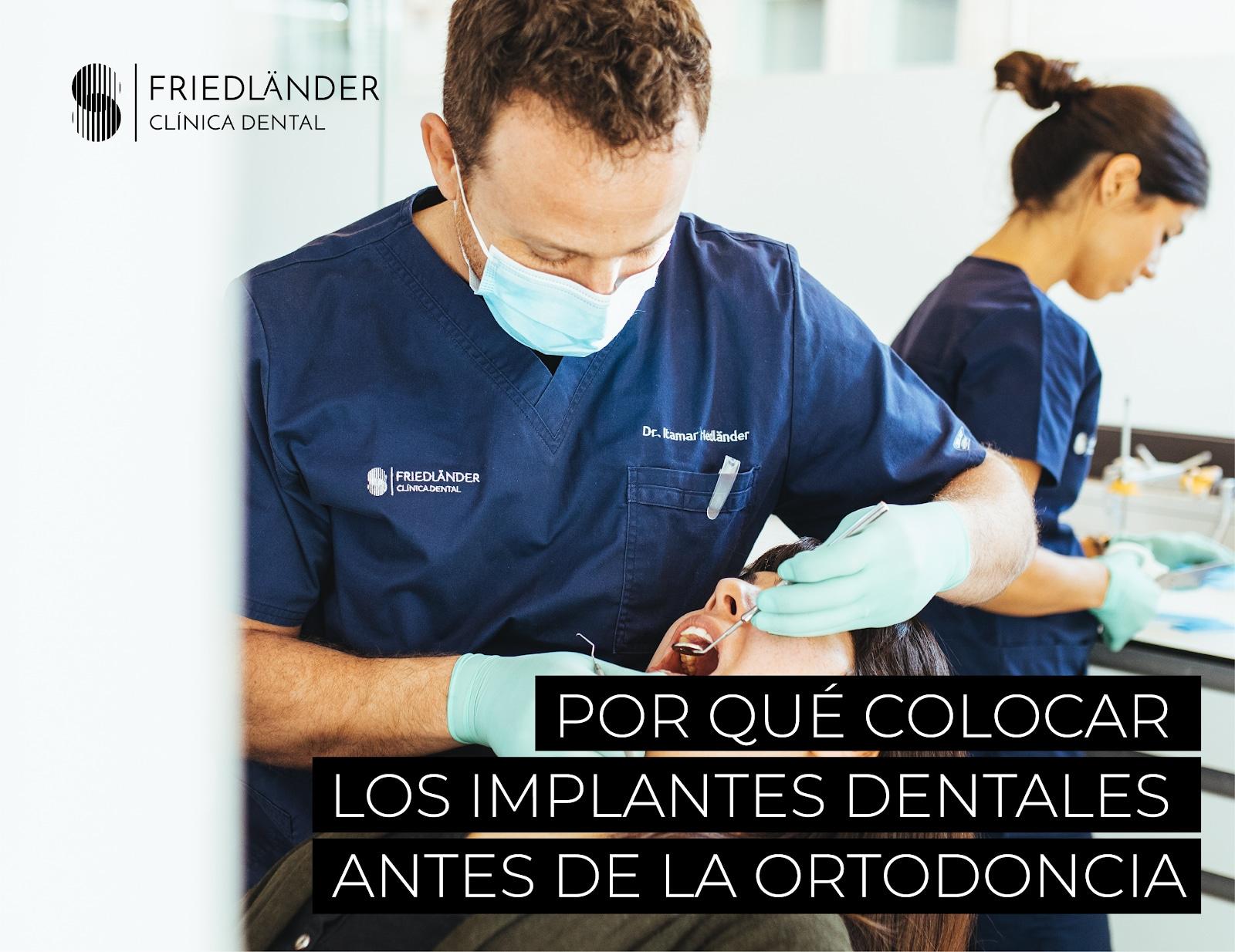 implantes dentales antes de la ortodoncia