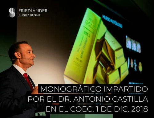 Nuestro implantólogo el Dr. Antonio Castilla impartió el monográfico Regeneración Ósea en Implantología en el COEC.