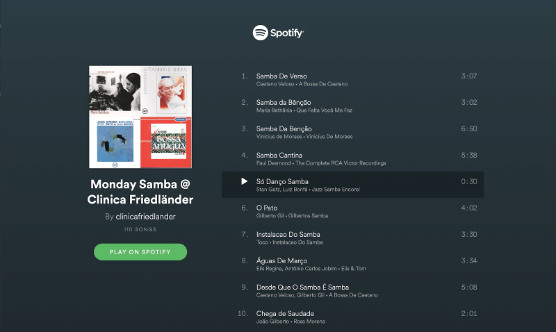Nuestras PlayLists favoritas en Spotify  @clinicafriedlander 3